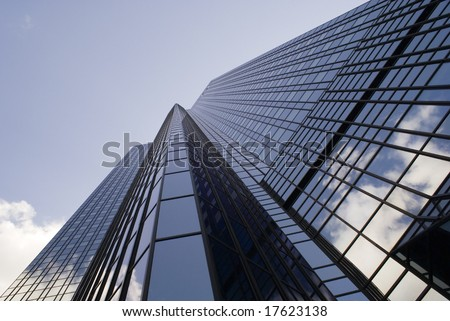 A tall Steel & Glass building (from different angle) - stock photo