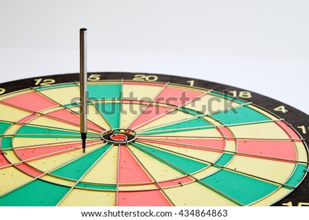 A target dart with target pen, arget arrows White background , arrow concept marketing - stock photo