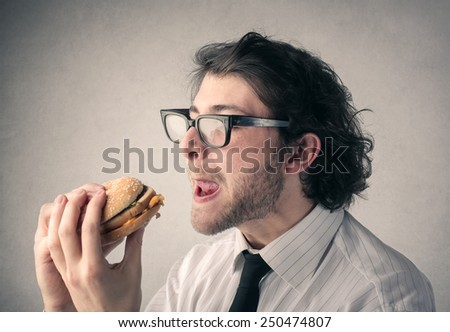 A tasty burger  - stock photo