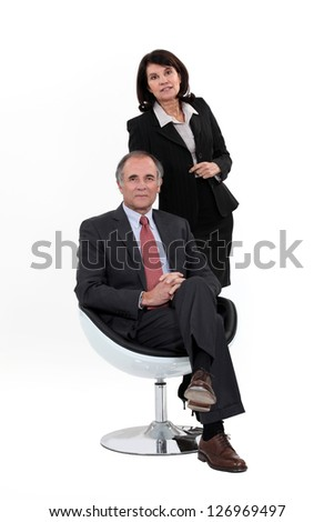 A team of business professionals - stock photo