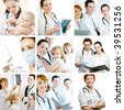 a team of experienced highly qualified doctors - stock photo