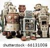 a team of robots - stock photo