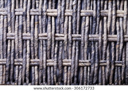 a texture of basket weaving - stock photo