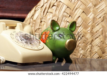 A theme based on financial support through telephone services. - stock photo