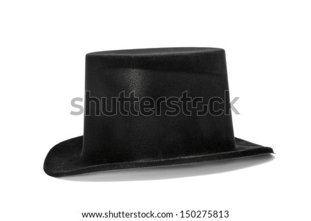 a top hat on a white background - stock photo