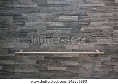 A towel rail s in bathroom. - stock photo