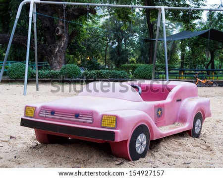 A toy car in amusement park - stock photo