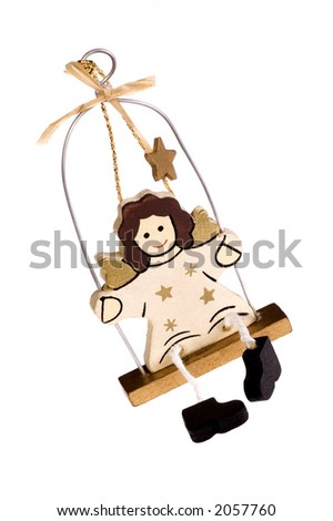 A toy figure of angel - stock photo
