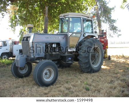 A tractor. - stock photo