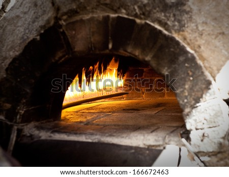 A traditional oven for cooking. - stock photo