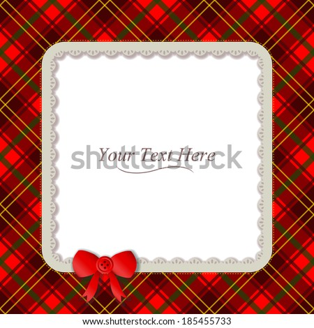 traditional plaid patterned frame accented with a small red ribbon ... Green Texture Repeating Background