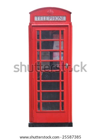 A Traditional Red British Telephone Box. - stock photo