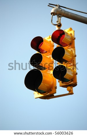 A traffic light - stock photo