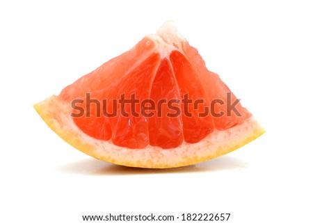A triangle grapefruit slice  - stock photo
