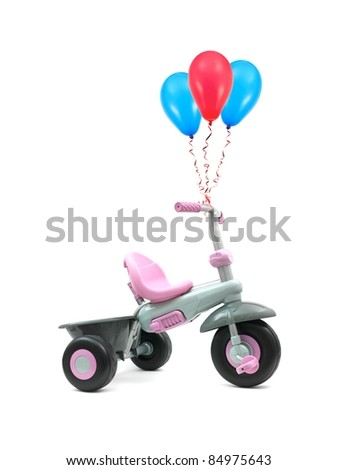A trike isolated against a white background - stock photo