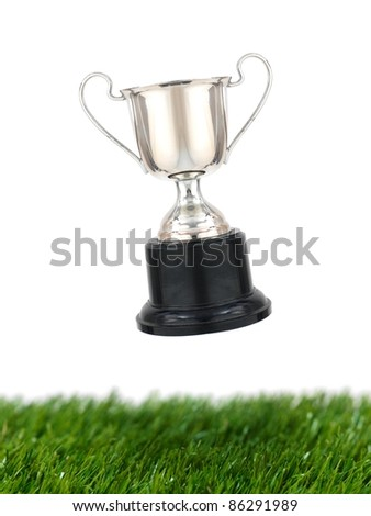 A trophy isolated against a white background - stock photo