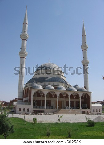 A turkish mosque - stock photo
