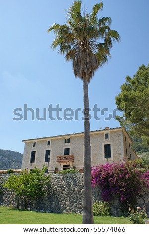 A typical finca on Mallorca that makes rural tourism on Mallorca so popular - stock photo