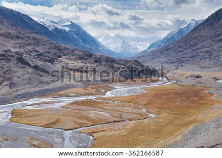 A typical glaciated U-shaped valley - stock photo