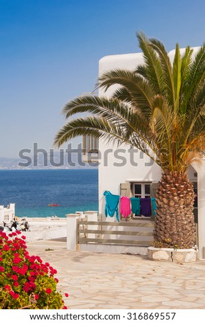 A typical private home on the Mediterranean island - stock photo
