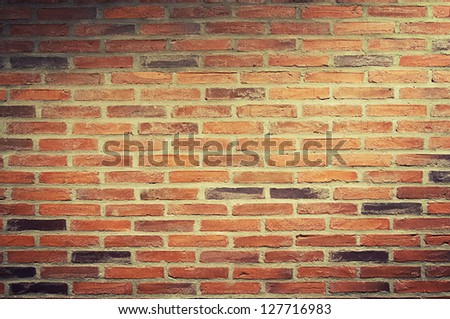 a urban background, red brick wall - stock photo