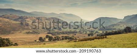A valley in the Lake District, UK - stock photo