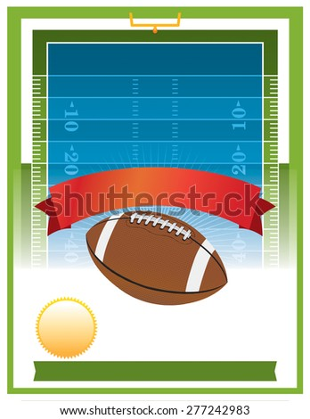 A vector flyer design perfect for tailgate parties, football invites, etc. - stock photo