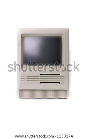 A very early all-in-one personal computer - stock photo