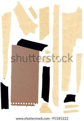 a very large image or masking tape and paper. - stock photo