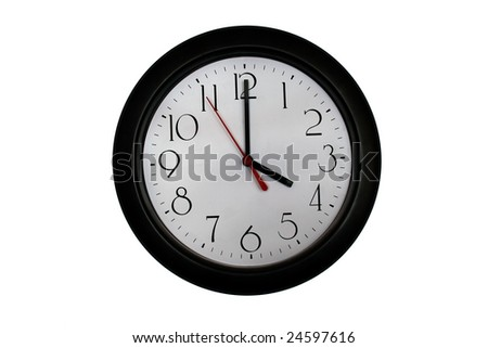 A very nice shot of a clock showing 4 O'clock - stock photo
