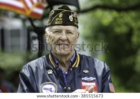 A Veteran at Holiday Ceremony
