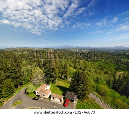 A View from Astoria Column - stock photo