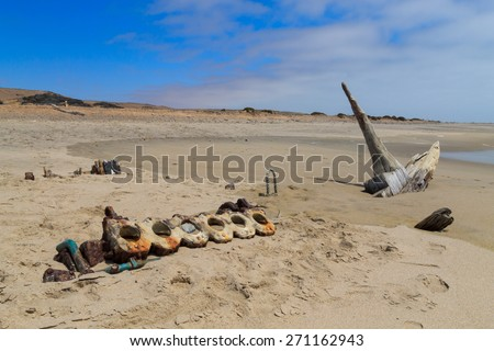 A view from Skeleton Coast National Park, Namibia - stock photo