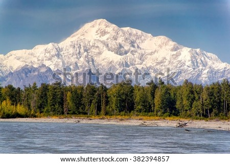 A view from Talkeetna, Alaska - stock photo
