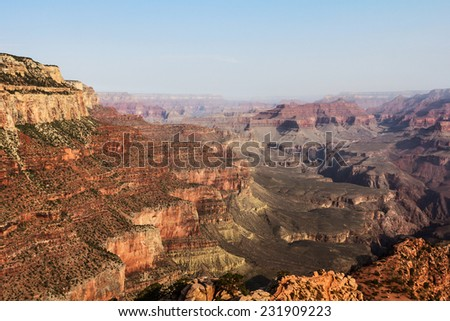 A view from the Grand Canyon, Arizona. - stock photo