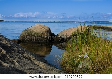 A view from the Swedish west coast - stock photo