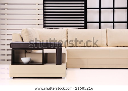 A view of a modern sofa - stock photo