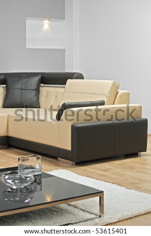 A view of an interior of modern apartment - stock photo