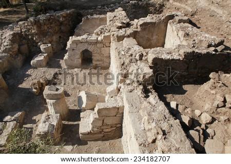 A view of Antandrus Ancient City, Turkey.  - stock photo