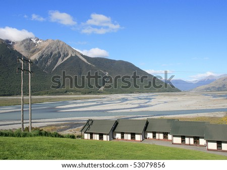 A view of Cass Valley, New Zeaand - stock photo