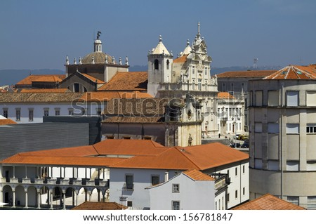 A view of Coimbra's University Hill  - stock photo