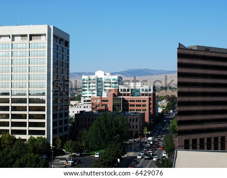 A view of downtown Boise Idaho - stock photo