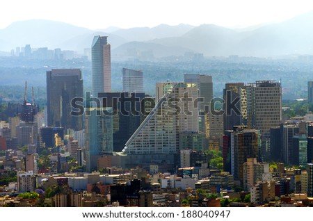 A view of downtown Mexico City, Mexico - stock photo