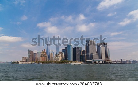 A view of downtown New York - stock photo