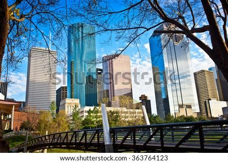 A view of Houston Texas - stock photo