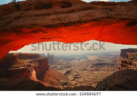A View of Mesa arch - stock photo