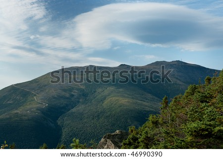 A view of Mount Washington as seen from the Northeast - stock photo
