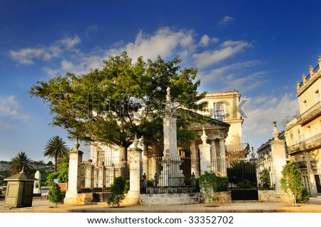 """A view of popular place """"El Templete"""" in cuban tradition, old havana - stock photo"""