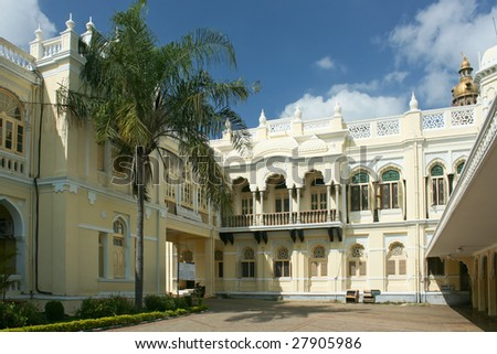 A view of Residential Museum in the Mysore Palace in Mysore City, Karnataka, India. - stock photo