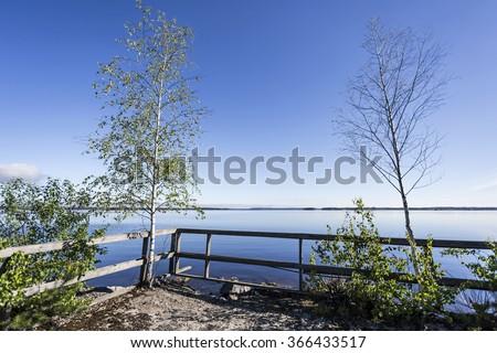 A view of Saimaa lake, Finland - stock photo